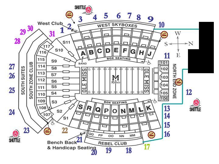 ole miss seating chart: Vaught hemingway stadium at hollingsworth field seating chart