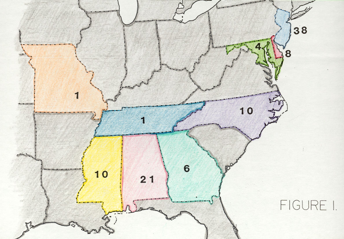 Cretaceous Dinosaurs Of The Southeastern United States D - Most eastern state in usa