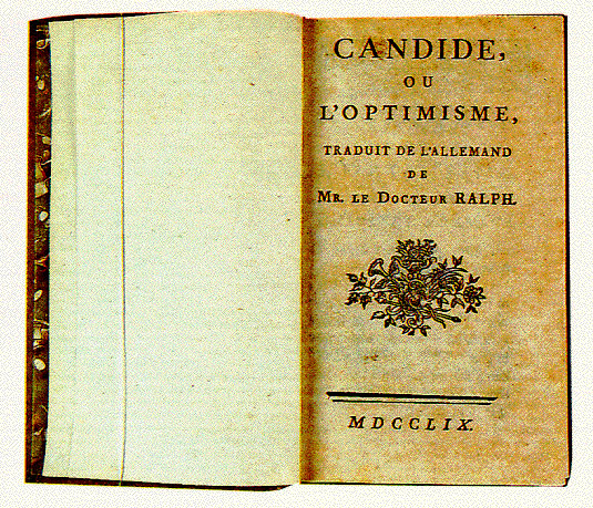 an analysis of the candide by voltaire This one's easy-peasy: candide is the name of the novel's protagonist and the  alternative title is no more of a head-scratcher: optimism leave it to voltaire to.